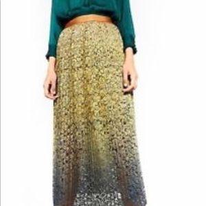 Ombré lace skirt